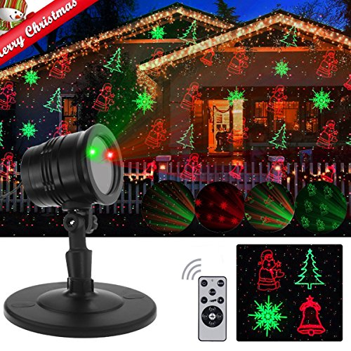 Christmas Laser Lights, Projector Lights Garden Spotlight Lights with Wireless Remote Control Waterproof Outdoor Indoor Party Holiday lights Decoration ( 2017 NEW )