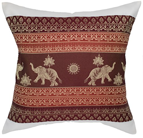 - Avarada 16x16 Inch (40x40 cm) Print Elephant Sun Decorative Throw Pillow Case Cushion Cover for Sofa Couch Chair Bed Insert Not Included Zipper White
