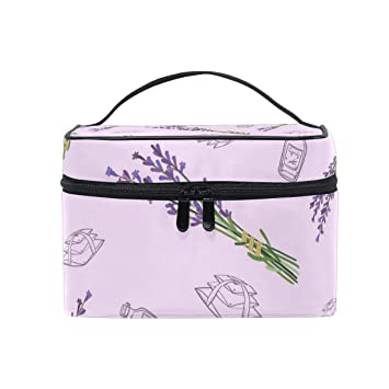 e4f6e5222ebd Pink Lavender Essential Oil Large Travel Toiletry Bag ... - Amazon.com