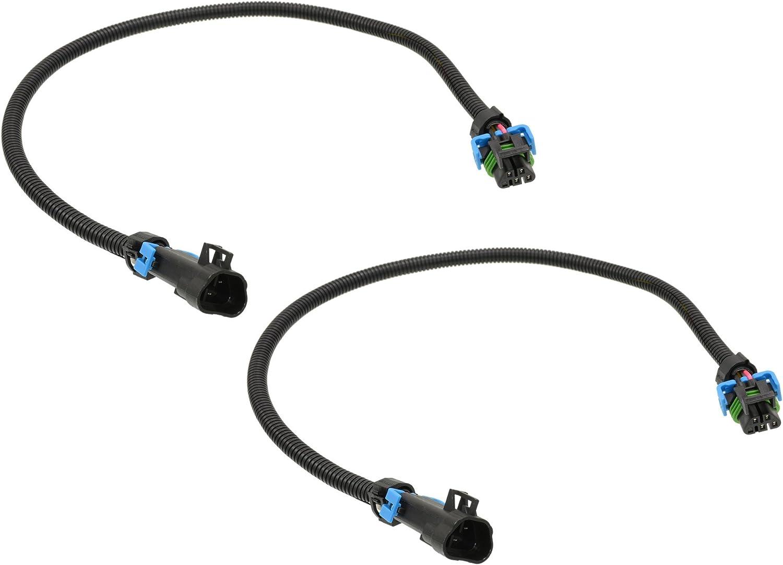 Michigan Motorsports Oxygen O2 Sensor Header Extension Harness 24 Fitment for LS2 LS3 LS7 2005 to 2013 C6 Corvette and 2010-2013 Camaro Front Sensor Applications