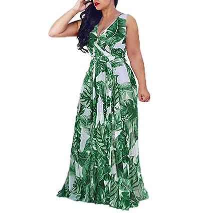 Amazon.com: Plus Size Wrap Maxi Dress V Neck Floral Flowy ...