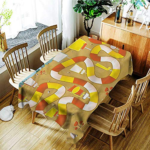 (familytaste Board Game,Vintage tablecloths Block Path on City Park 52