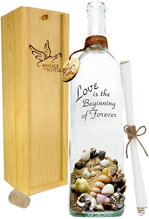 Personalised Birthday Message in a Bottle with Gift Box For Him Her