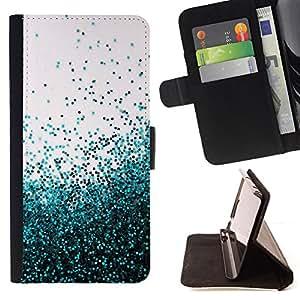 - Flying Spring Blue Entropy Mess - - Prima caja de la PU billetera de cuero con ranuras para tarjetas, efectivo desmontable correa para l Funny HouseFOR HTC One M9