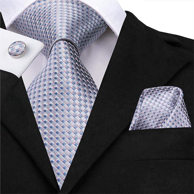 Corbatas Para Hombre Conjunto De Pañuelos Corbatas De Seda Sólida ...