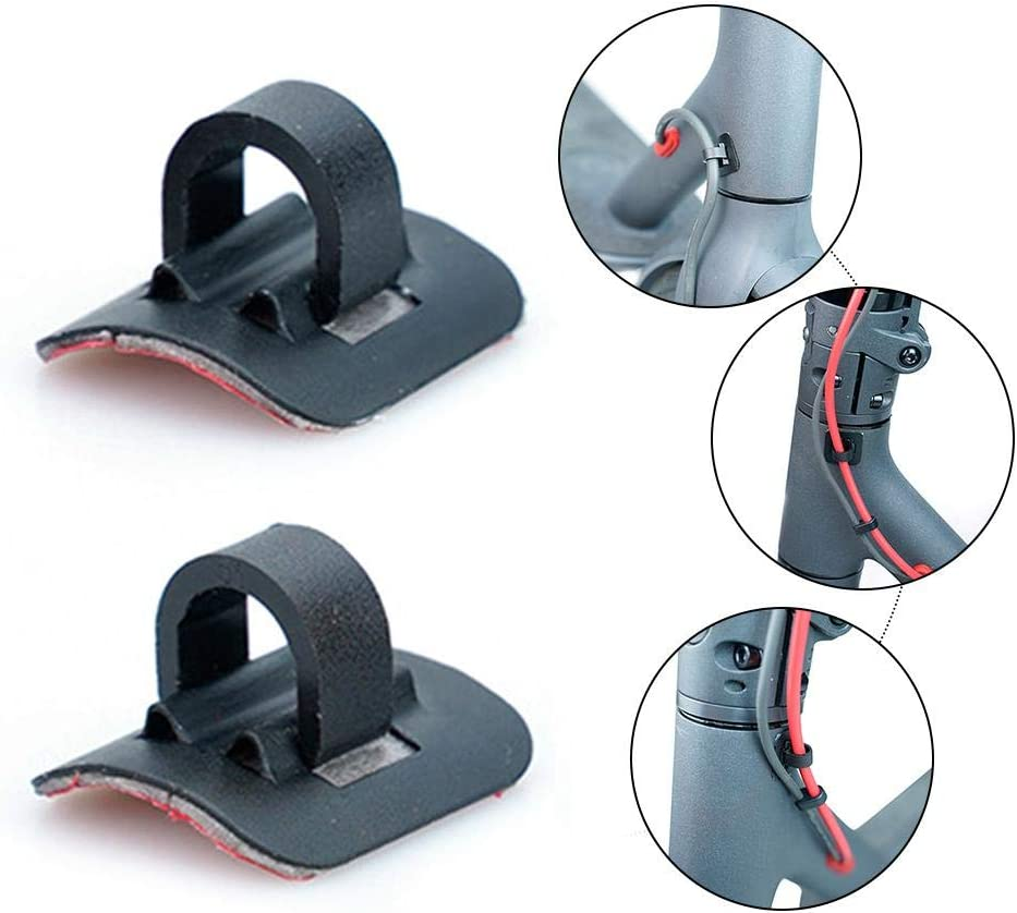Steadyuf Xiaomi M365 Scooter Scooter Cable Tie Buckle Organizer Accessories Pro 2PCS