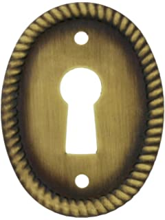 "Keyhole Cover Round Oak Small Key hole Cover 1-1//16/"" Diameter Escutcheon"
