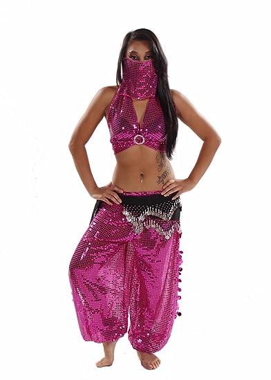 Miss Belly Dance Traje de niña de harem de danza del ventrer ...