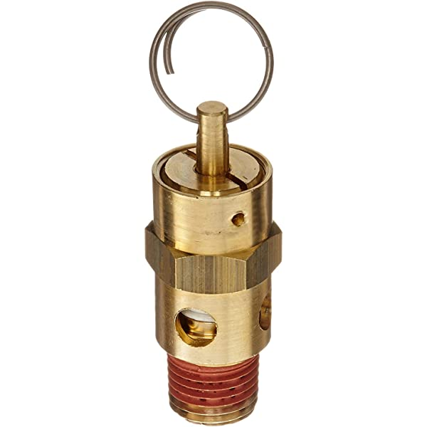 3//4 NPT 3//4 x 1 300 Degree F Max Temperature All Brass with Stainless Steel Springs 200 psi Midwest Control SCB7510-200 ASME Soft Seat Safety Valve