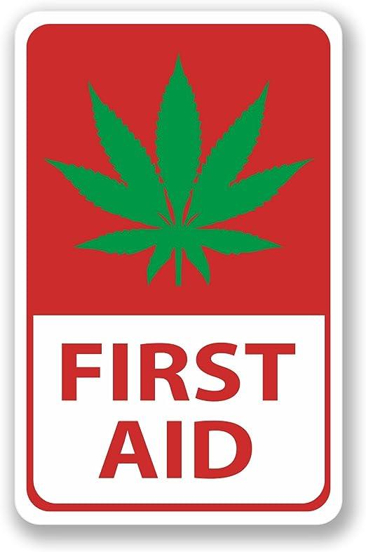 2 pegatinas de primeros auxilios de marihuana para coche ...