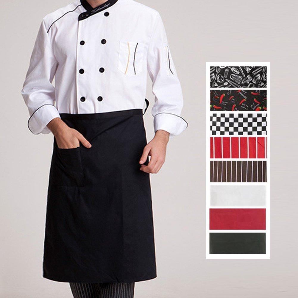 Cucchiaio Posate CADANIA Grembiuli da Cucina Grembiule a Vita Intera a Mezza Lunghezza Grembiule da Cuoco Catering