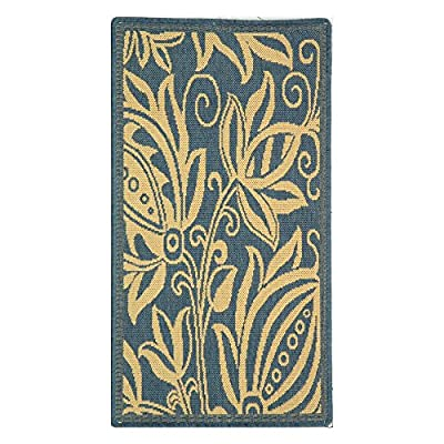 Safavieh Courtyard Collection CY2914-3908 Black and Sand Indoor/ Outdoor Area Rug