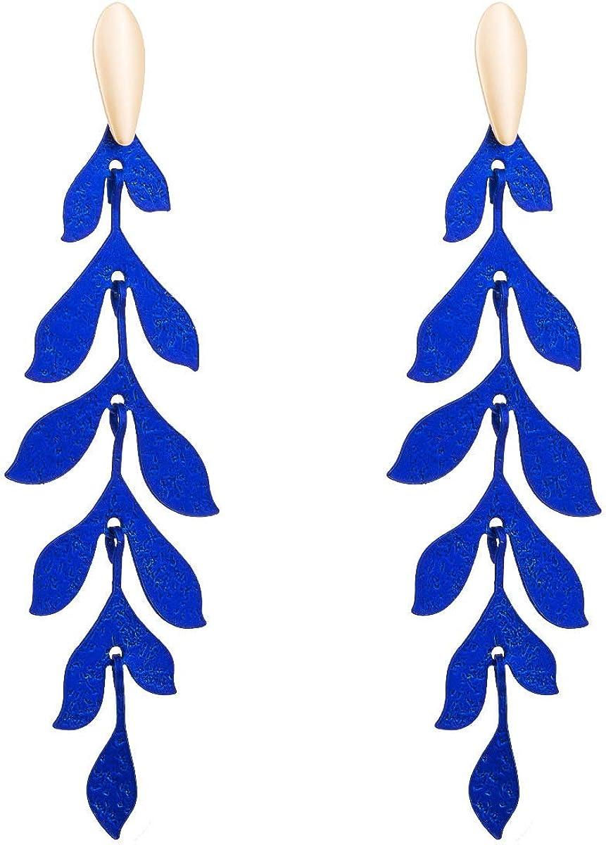 Pendientes Mujer Pendientes Ear Cuff Sauce-como personalidad creativa hojas multicapa de aleación de pendientes