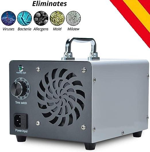 HORO.ES Generador de ozono Comercial, eliminador de olores, purificador de Aire de ozono Industrial, 10.000 MG/h, ionizador para Habitaciones, Humo, Coches y Mascotas - Blanco: Amazon.es: Hogar