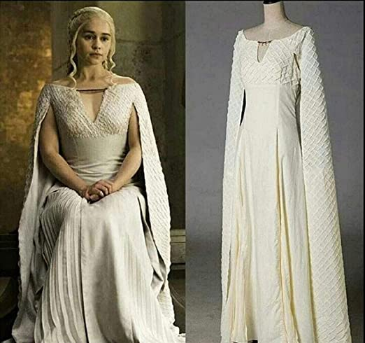 YFJL Halloween Madre de Dragones Daenerys Targaryen Largo Disfraz ...