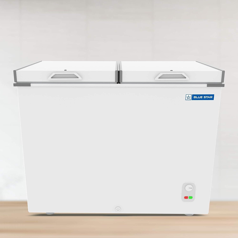Blue Star CHF400 Double Door Deep Freezer (400 L, White)