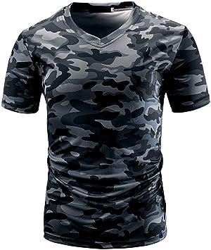 Venmo Camisetas Hombre,Camisetas Hombre Originales,Camisas Hombre,Polos Hombre,Hombres Verano Camiseta de Manga Corta de O culleo,Camisetas de Camuflaje Hombres: Amazon.es: Deportes y aire libre