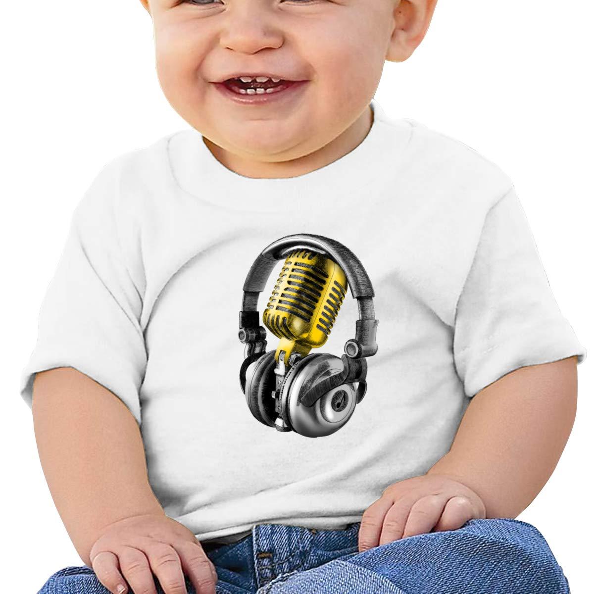 Qiop Nee Microphone and Headphones Short-Sleeves Tee Baby Boy