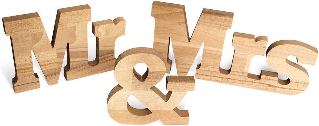 Schriftzug Schriftzeichen Und /& aus Buchenholz Holz Dekoration