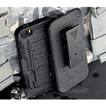 iPhone SE/5S/5 Case, Cocomii Robot Armor NEW [Heavy Duty] Premium Belt Clip Holster Kickstand Shockproof Hard Bumper Shell [Military Defender] Full Body Dual Layer Rugged Cover For Apple (R.Black)