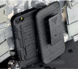 iphone 4 case robot - iPhone 4S / 4 Case, Cocomii Robot Armor NEW [Heavy Duty] Premium Belt Clip Holster Kickstand Shockproof Hard Bumper Shell [Military Defender] Full Body Dual Layer Rugged Cover Apple (R.Black)