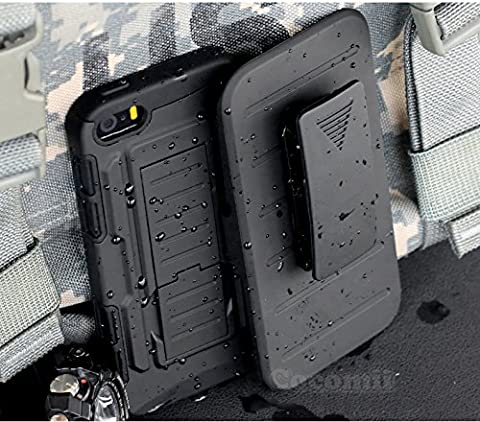 iPhone 4S / 4 Case, Cocomii Robot Armor NEW [Heavy Duty] Premium Belt Clip Holster Kickstand Shockproof Hard Bumper Shell [Military Defender] Full Body Dual Layer Rugged Cover Apple (Iphone 4 Stowaway Case)