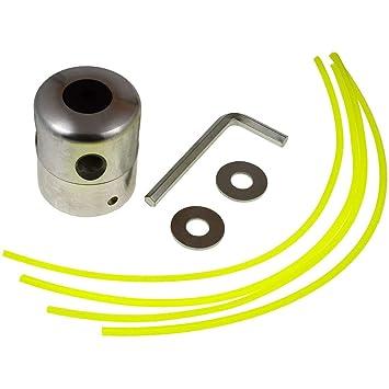 Batería de Net Aluminio Doble de Cabeza, Hilo para cortabordes y ...