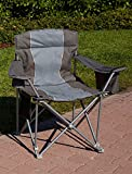1,000-lb. Capacity Heavy-Duty Portable Chair (Charcoal)