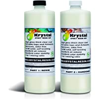 Krystal Resin   8 oz (250 ml)   Premium Quality Clear Epoxy Resin Kit   Non-Toxic, Low Odor   High Gloss Thick Clear…