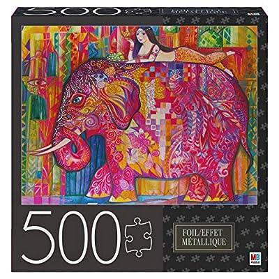 Milton Bradley Pink Elephant Foil Puzzle 500pc: Toys & Games