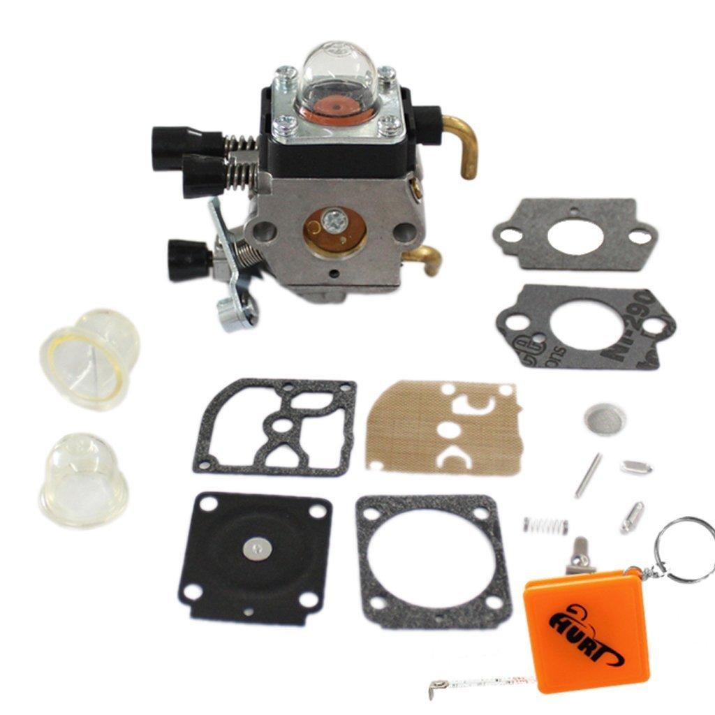 HURI Carburateur kit Membrane Joint Réparation kit pour Stihl FS38 FS45 FS46 FS46 C FS55 FS55R FS75 FS80 FS85 FC75 FC85 HL75 HT70 HT75 SP85 Tondeuse à Gazon C1Q-S153 C1Q-S71