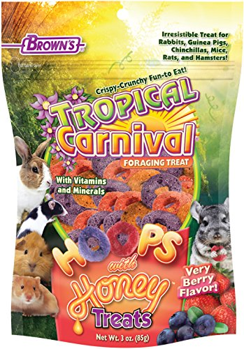 Tropical Carnival F.M. Brown's Natural Chicken Strips Ferret Treat, 2-oz Bag - Made with Real Chicken, Easy-To-Eat, (Honey Treat Guinea Pig)