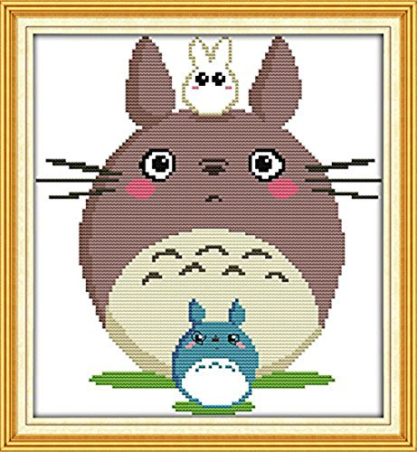 WHEEXLOCK Cross Stitch Kits Beginners Kids Advanced - Totoro