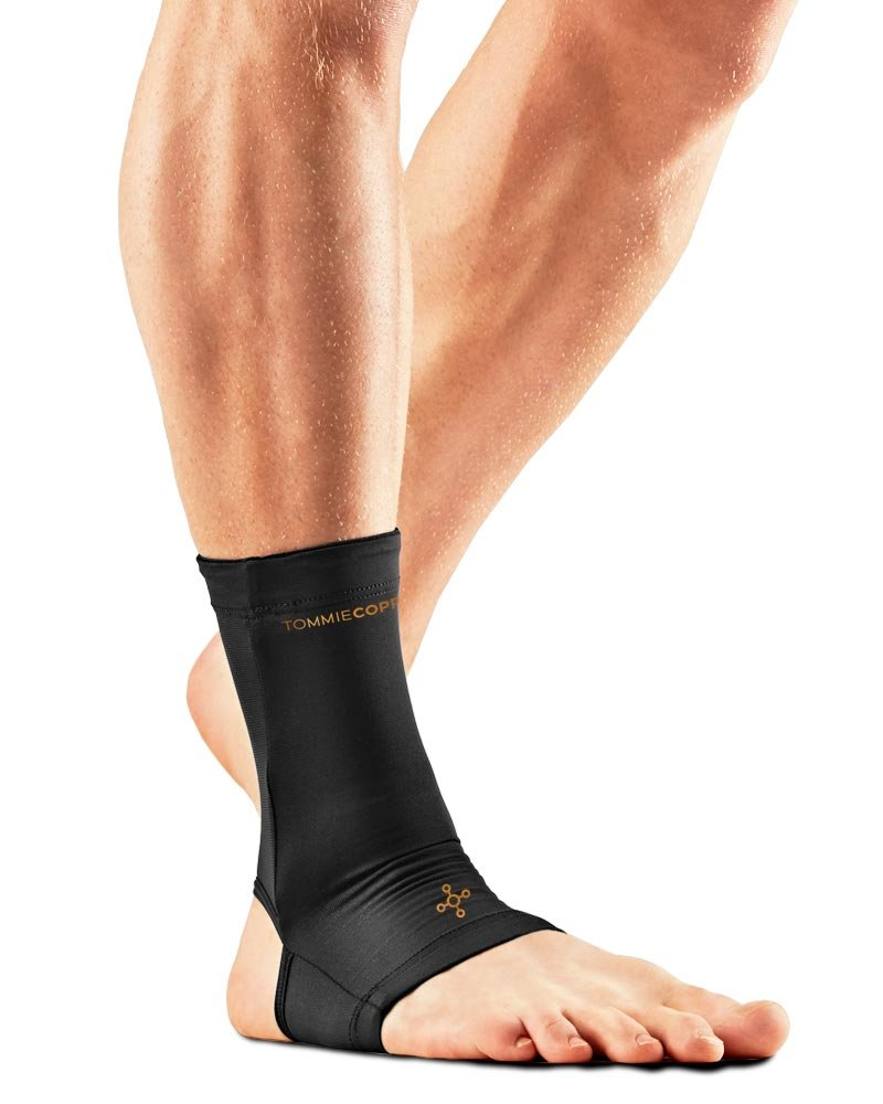 Tommie Copper Unisex Core Compression Ankle Sleeve, Black, Large