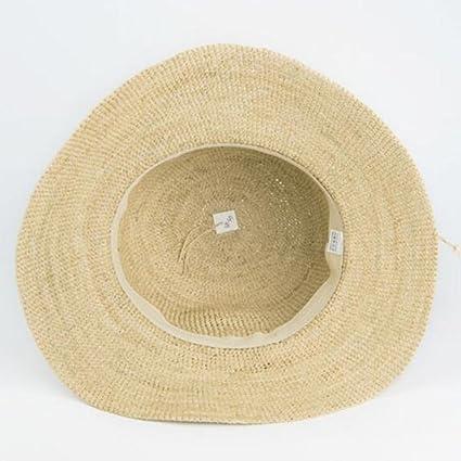 yxiny gorras visières sombrero sombrero de paja sombrero de playa Shade Sun  Cap de protección plegable MS gastos y transpirable mortaja para primavera  y ... 23db58c9e8d