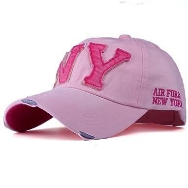 NOVADAB Men s NY Raw Cut Adjustable Baseball Cap (Pink)  Amazon.in ... 4f6e911f7c77