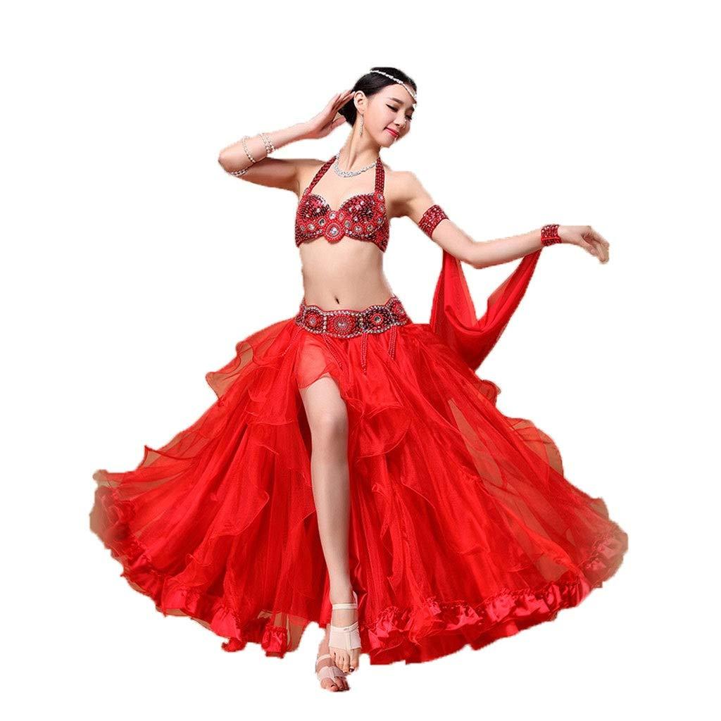 最安価格 大人の女性のベリーダンスの衣裳の衣装のスーツの大きい振動スカートの性能の衣類 B07PDRQTD8 M レッド M レッド レッド M, 陶匠大雅:33809666 --- a0267596.xsph.ru