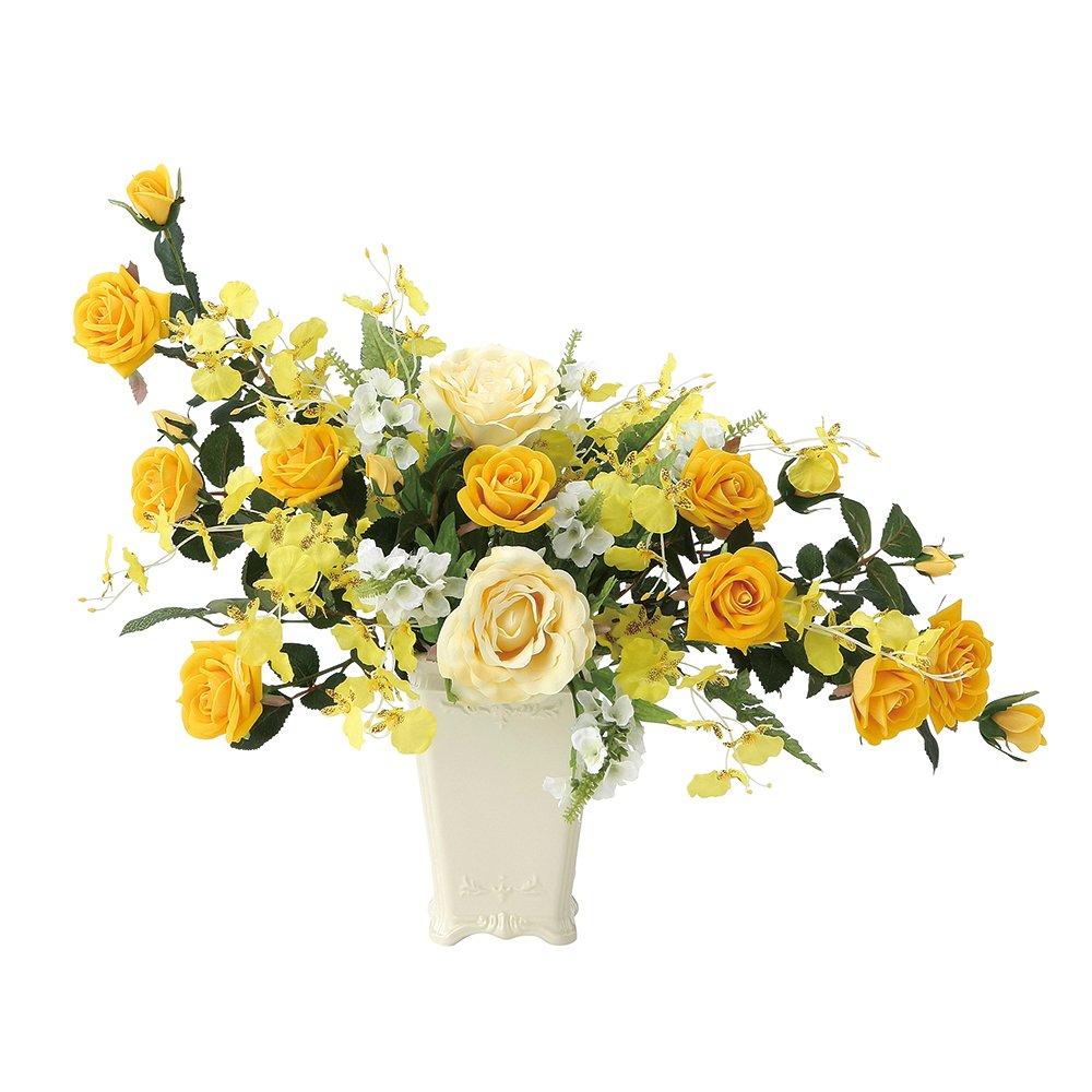 造花 アートフラワー「ゴールドハニー 47cm」光触媒(空気清浄)フラワーアレンジ B01KHPNZC2