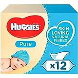 [Huggies] ハギーズ純粋な赤ちゃんは、無香料12パックX56ワイプワイプ - Huggies Pure Baby Wipes Fragrance Free 12 Packs X56 Wipes [並行輸入品]