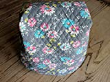 kitchenaid mixer pink cover - Kitchen Mixer Cover, Reversible Quilted Gray with Turquoise & Pink Floral, Turquoise & White Polka Dot, KitchenAid Appliance Dust Cover