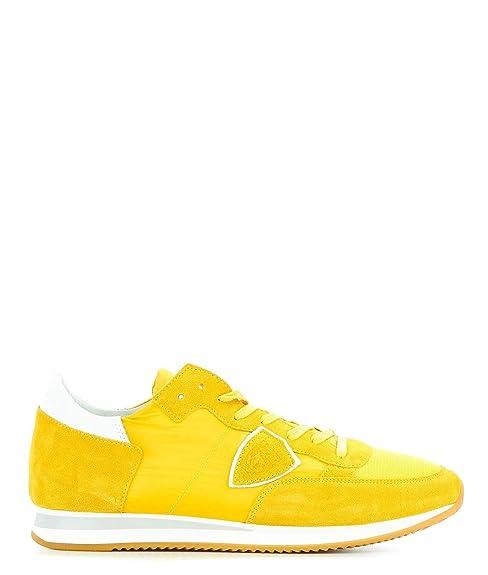0f891545d5 Philippe Model Sneakers Uomo TRLUW112 Camoscio Giallo: Amazon.it ...