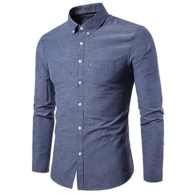 Hemd Herren Slim Fit   Sannysis Männer Freizeithemd Casual Solide Langarm  Shirt Bluse  Hemden Für bbd95bf096