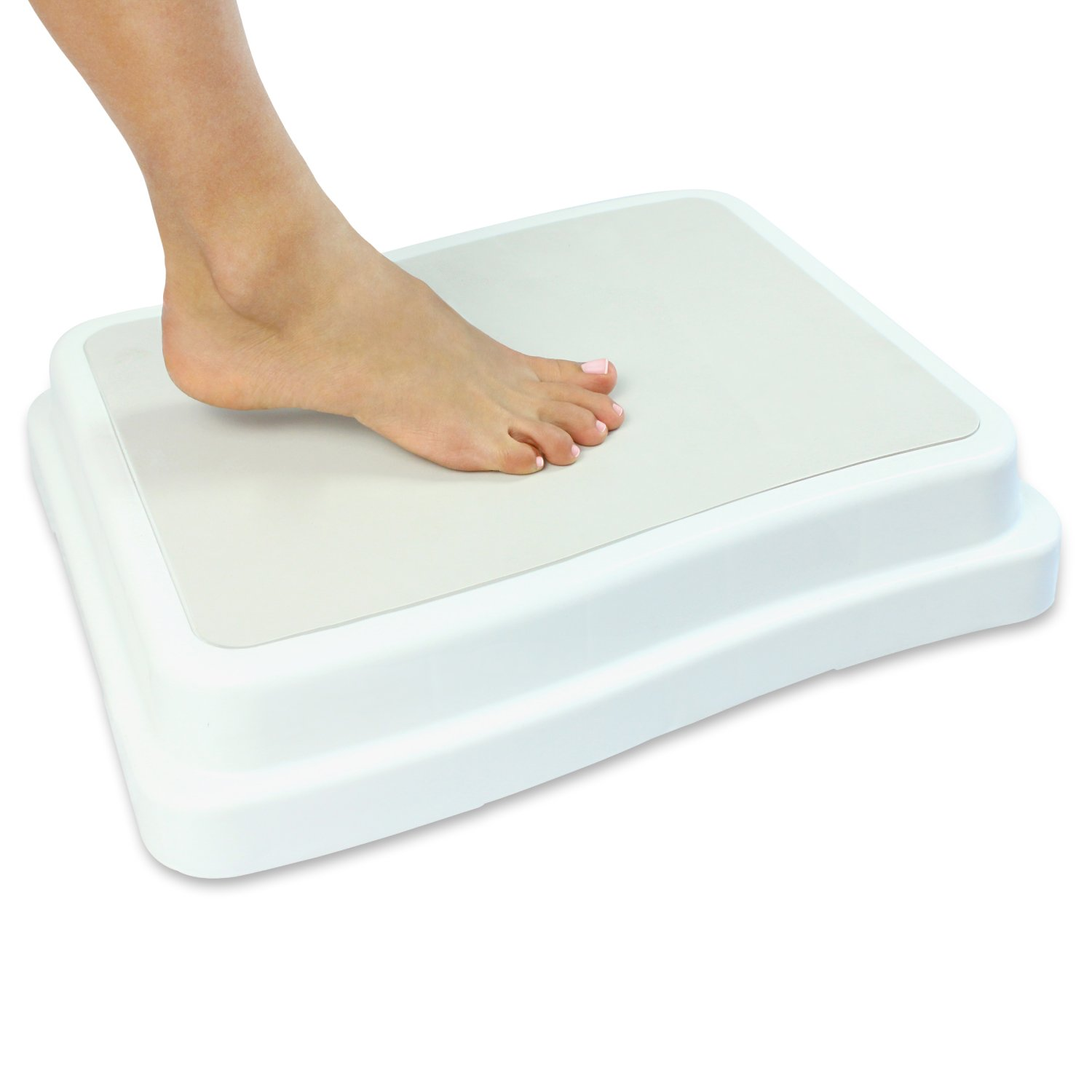 Vive Bath Step (4'') - Slip Resistant Shower Stepping Stool - Elevated Bathroom Safety Aid for Handicap, Elderly, Seniors Entering, Exiting Bathtub - Nonslip Heavy Duty Bathtub, Bed, Kitchen Elevator by Vive
