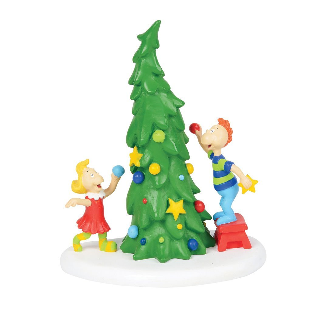 Department 56 Grinch Ville Christmas Tree Figurine Village Accessory, Multicolor 4059423