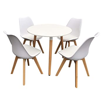 Ensemble Chaises BlancAmazon Nola Happy Et Scandinave Table Garden wPTkOuZXi