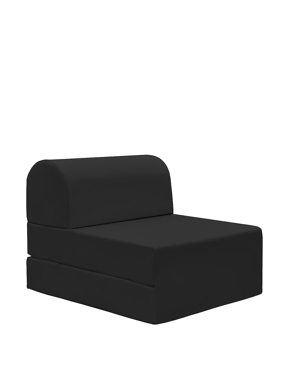 13Casa - Petra A3 - Pouff chaise longue trasformabile. Dim: 59x72x53 h cm. Col: Nero. Mat: Ecopelle. F00040902058
