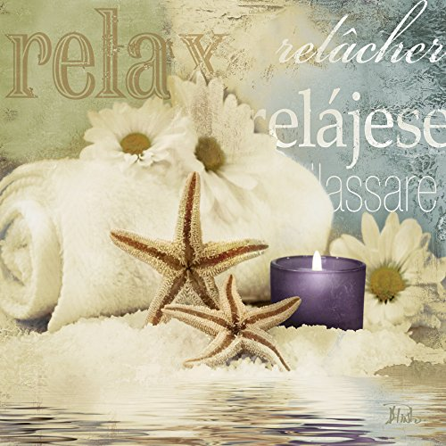 Relaxation II Spa Bathroom Art Print Poster 12x12