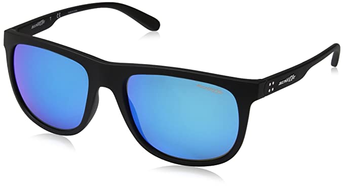 e951dd0b04 Arnette Men's Crooked Grind Non-Polarized Iridium Rectangular Sunglasses,  Matte Black, ...