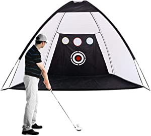 XCSOURCE Golf Hitting Nets Golf Practice Net with Chipping Target Pockets Carrying Bag Training Aids Practice Net Improve Accuracy for Outdoor Indoor Sports Home Backyard Park