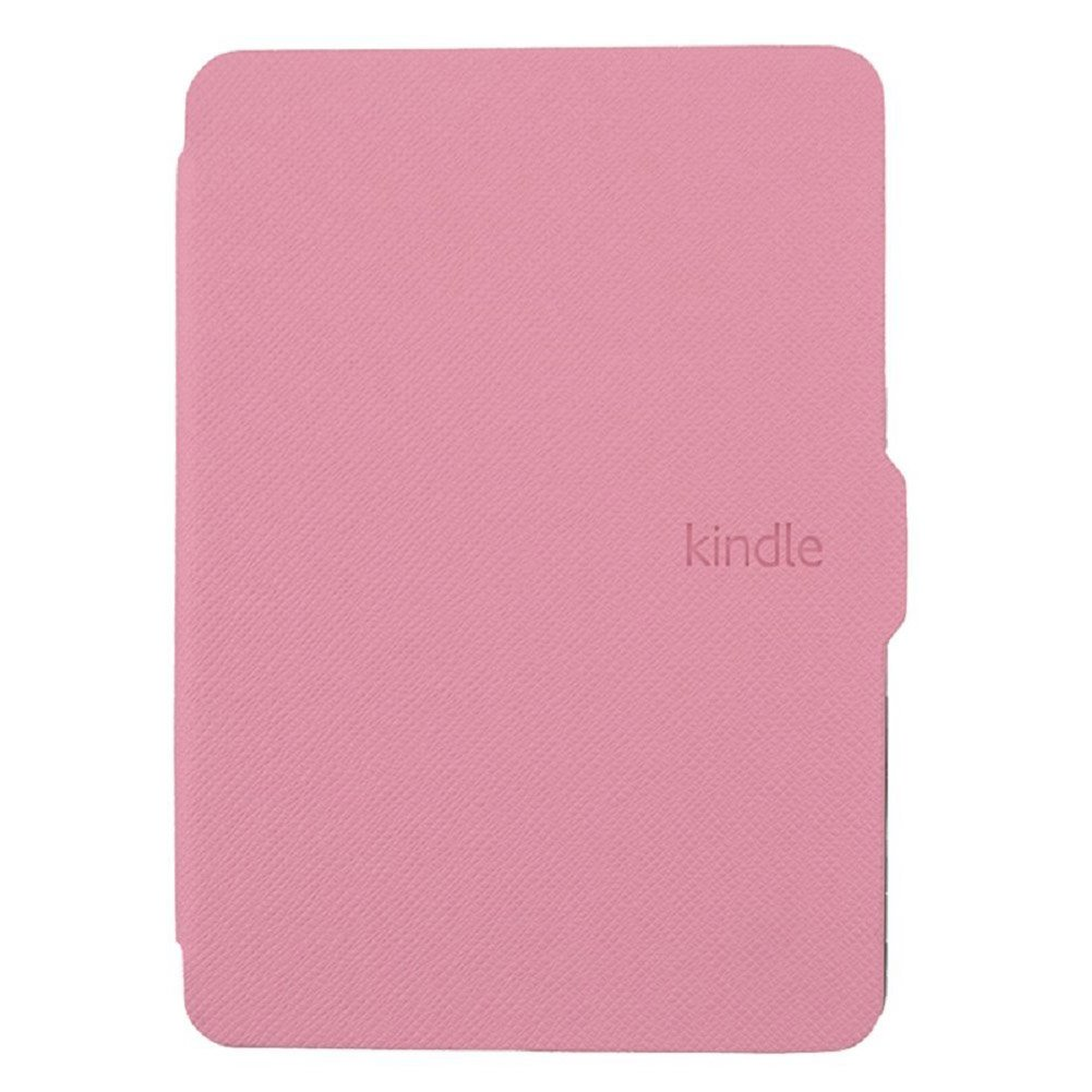 Daorier Kindle Paperwhite 1//2//3 PU Leather Non-slip Case Hard Case Protective Cover Leather Case Stand Cover with Sleep//Wake Smart Cover Function Fuchsien-Pink one size